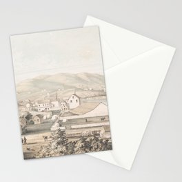 Vintage Pictorial Map of San Francisco CA (1849) Stationery Cards
