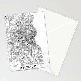 Milwaukee White Map Stationery Cards
