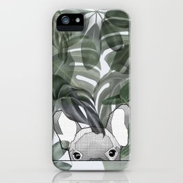 Hinding Frenchy - grey iPhone Case