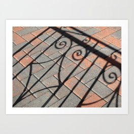 Curlicue Shadows  Art Print