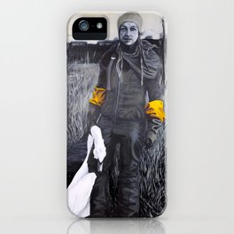 Nina and the swan iPhone Case