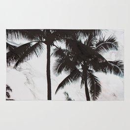 Velvet Palm trees on marble Rug