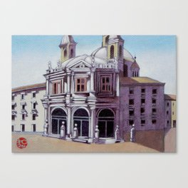 postcard from Basilica de San Francisco el Grande, Madrid, Spain Canvas Print