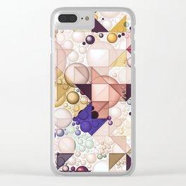 Multiple Geometrical Pattern Decor Clear iPhone Case