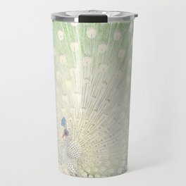 Peacock, Ohara Koson - Japanese Woodcut Travel Mug