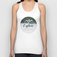 explore Tank Tops featuring Explore by Quellasenzanick