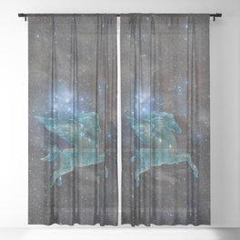 Pegasus and Galaxy Sheer Curtain