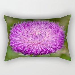 Nodding Thistle Close-Up Rectangular Pillow