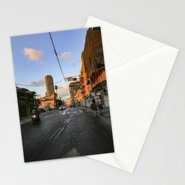 Tel aviv street to the beach Stationery Cards