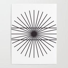 Optical illusion gift math geometry school Poster