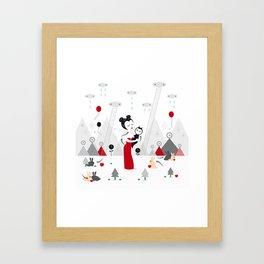 TEMPORARY SATISFACTIONS Framed Art Print