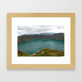 Crater Lake, Ecuador Framed Art Print