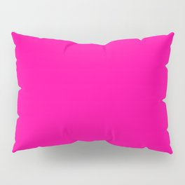 Neon Pink Solid Colour Pillow Sham
