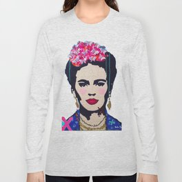 Frida Kahlo by Paola Gonzalez Long Sleeve T-shirt