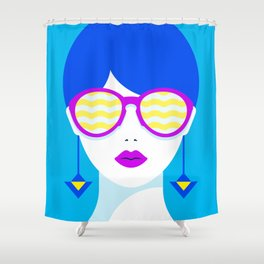 Sunglasses babe Shower Curtain
