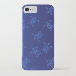 Sea Turtles - Blue Swatch iPhone Case