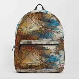 Ribbons Pattern Backpack