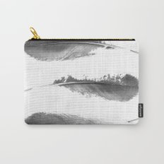 Faded Feathers Carry-All Pouch