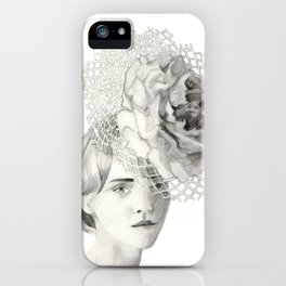 Emma in Bloom iPhone Case