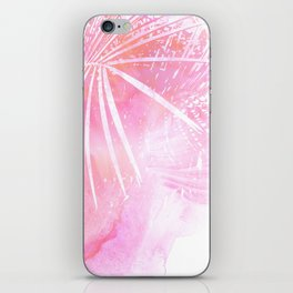 Abstract Pink Palm Tree Leaves Design iPhone Skin