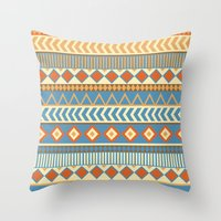 ethnic Throw Pillows featuring ethnic by Kozza