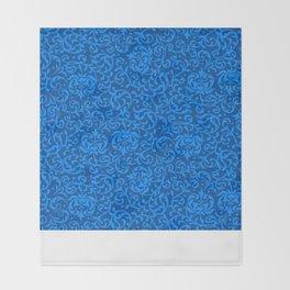 Blue Tudor Damask Throw Blanket