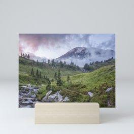 Mount Rainier and Edith Creek at Sunset Mini Art Print