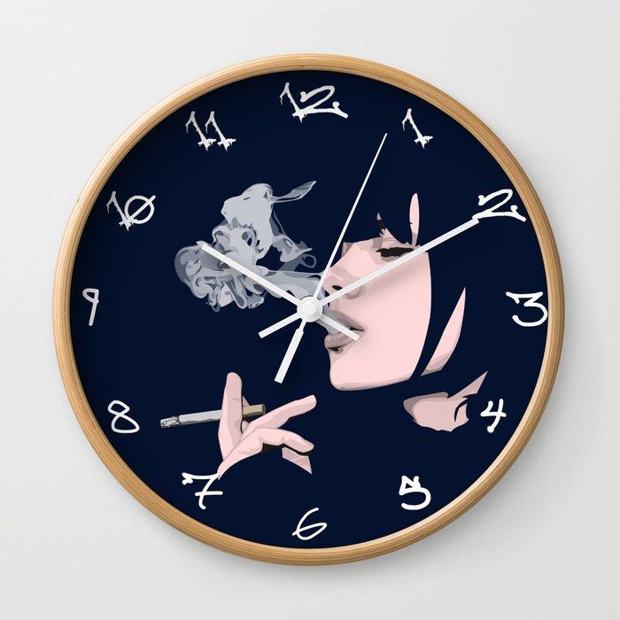 nonchalant Wall Clock