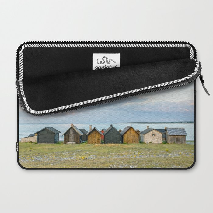 Fishing huts hutte 7 Laptop Sleeve