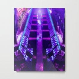 The Space City | Walker Street Metal Print