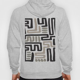 African Tribal Pattern No. 141 Hoody
