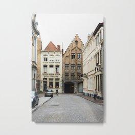 Adriaan Willaertstraat, Bruges Metal Print
