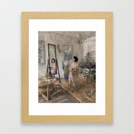 Plant Lady Framed Art Print