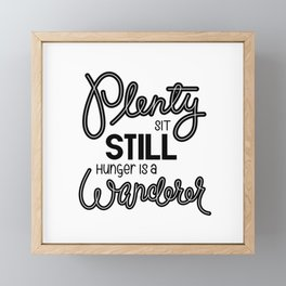 Plenty Wanderer Framed Mini Art Print
