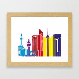 Jeddah skyline pop Framed Art Print