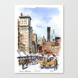 Union Square Greenmarket Canvas Print