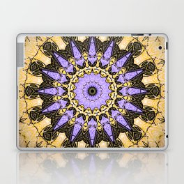 Brushed Gold and Purple Mandala Design Laptop & iPad Skin