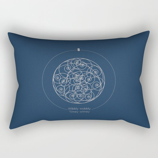 Doctor Who: Wibbly Wobbly Rectangular Pillow