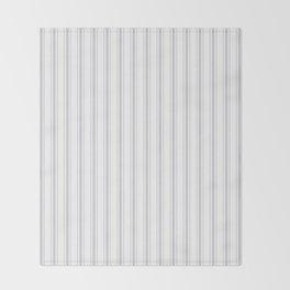 Soft Grey Mattress Ticking Wide Striped Pattern - Fall Fashion 2018 Throw Blanket