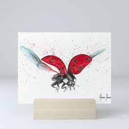 Lady Bug Bliss Mini Art Print