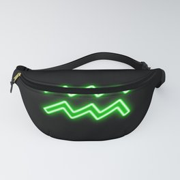 Bright Neon Green - Aquarius the Water Bearer Star Sign Fanny Pack
