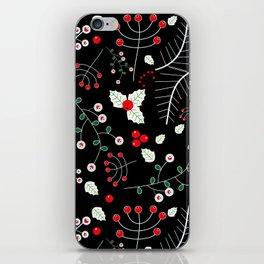 mistletoe black iPhone Skin