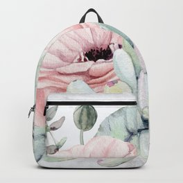 Pretty Succulents on Marble by Nature Magick Backpack