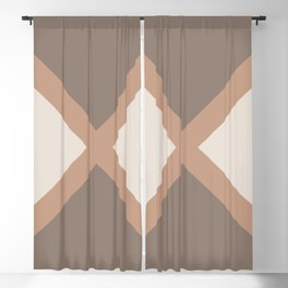 Brown Cream Minimal Diagonal Line Pattern 2021 Color of the Year Canyon Dusk & Accent Shades Blackout Curtain