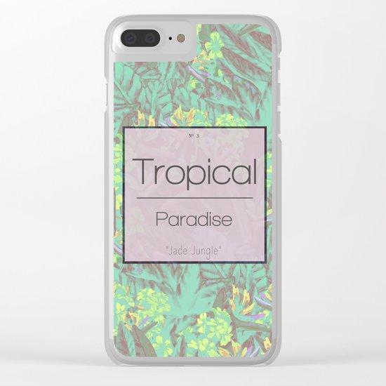 Tropical Paradise: Jade Jungle Clear iPhone Case