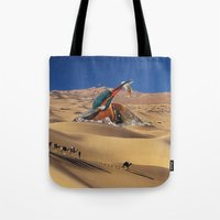 oasis Tote Bags featuring Oasis by Lerson