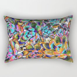 Floral tribute [galaxy] Rectangular Pillow
