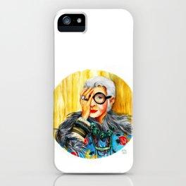 Iris Apfel.  iPhone Case