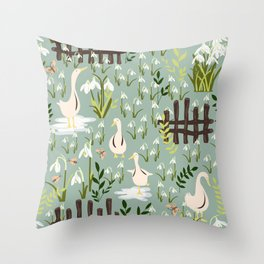 Beyond That Fence Throw Pillow