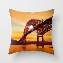 Pan-American Bridge Throw Pillow